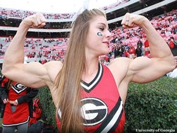 Jacked Georgia Cheerleader